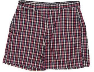 MAISON KITSUNÉ Plaid Flat Front Shorts