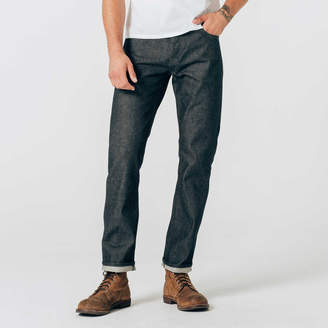 DSTLD Straight Raw Jeans in Selvedge Indigo - Grey