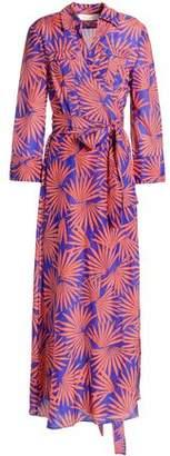 Diane von Furstenberg Printed Cotton And Silk-Blend Voile Midi Wrap Dress