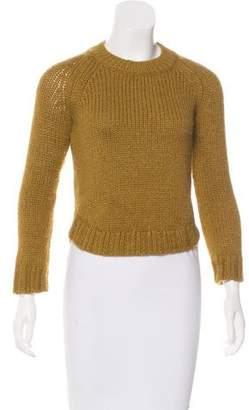 Theyskens' Theory Cropped Wool Sweater