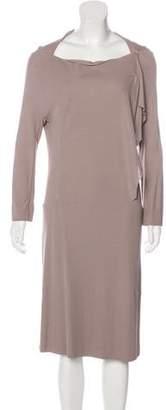 Calvin Klein Collection Long Sleevele Midi Dress