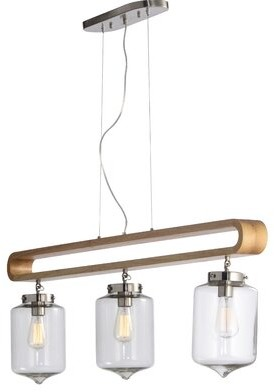 Wrought Studio Tawanna 3-Light Kitchen Island Jar Pendant Wrought Studio