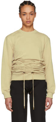 Y/Project Beige Corset Sweatshirt