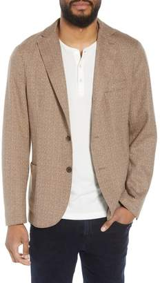 Eleventy Trim Fit Herringbone Wool & Linen Sport Coat