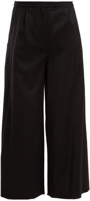 Osman Lupita wide-leg wool-blend trousers