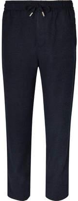 Mr P. Wide-Leg Virgin Wool-Blend Bouclé Drawstring Trousers