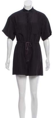 Behnaz Sarafpour Silk Short Sleeve Romper