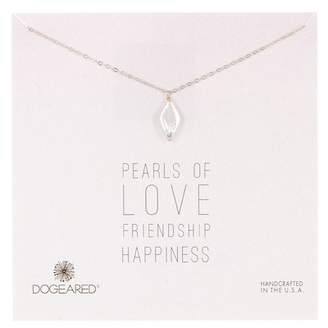 Dogeared Sterling Silver Pearls of... Diamond Shaped 14mm Pearl Pendant Necklace