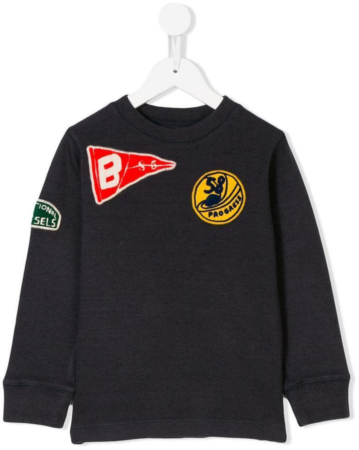 Bellerose Kids embroidered patch sweater