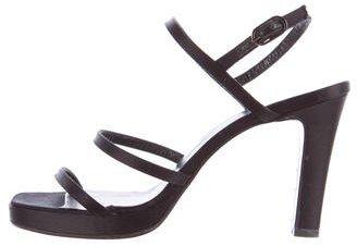 Vera Wang Satin Multistrap Sandals