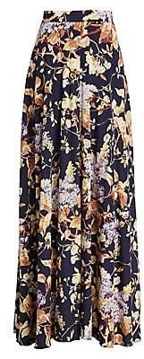 Zimmermann Women's Eye Spy Floral Stretch-Silk Maxi Skirt