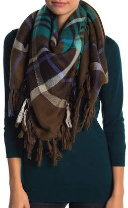 Collection XIIX Mega Plaid Square Tassel Scarf
