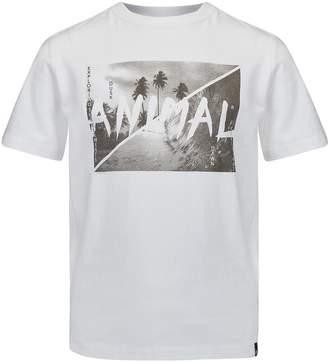 Animal Boys White Graphic Tee