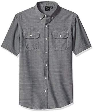 Burnside Men's Thorn Short Sleeve Button up Printed Shirt