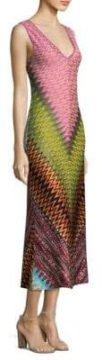 Missoni Metallic Zig Zag Midi Dress