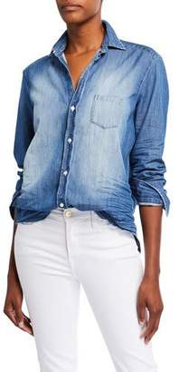 Frank And Eileen Long-Sleeve Button-Front Faded Denim Shirt
