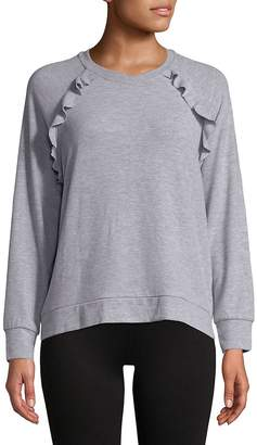 Betsey Johnson Women's Ruffled Raglan-Sleeve Pullover
