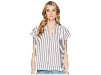 Kenneth Cole New York V-Neck Tuck Top Women's Clothing
