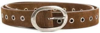 Massimo Alba grommet detail Michael belt