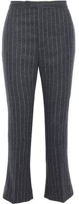 R 13 Pinstriped Wool And Cashmere-Blend Kick-Flare Pants