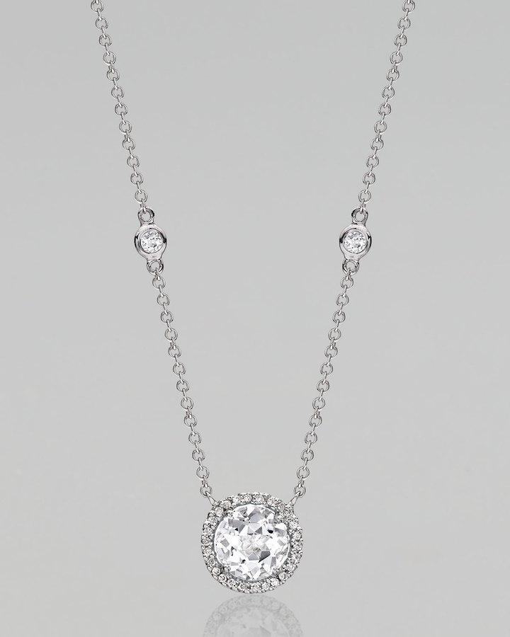 Kiki McDonough Grace White Topaz & Diamond Necklace