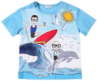 Dolce & Gabbana Sea & Surf Printed Cotton Jersey T-Shirt