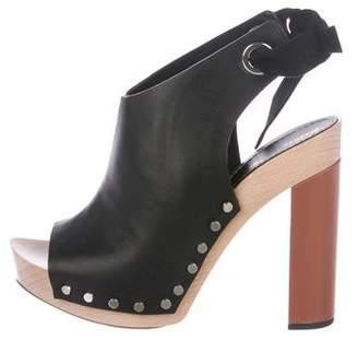 Proenza Schouler Peep-Toe Leather Sandals