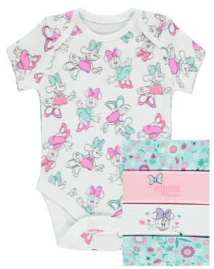 Disney Minnie Mouse Bodysuits 5 Pack