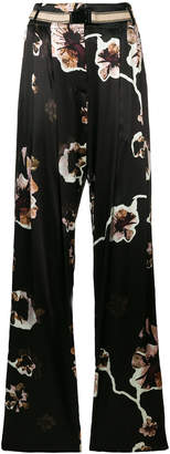 By Malene Birger floral flared trousers