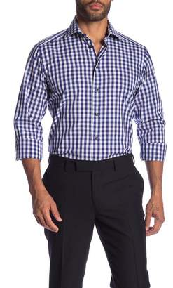 Eton Plaid Long Sleeve Contemporary Fit Shirt