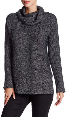 Chaus Ribbed Cowl Neck Lurex Sweater $79 thestylecure.com