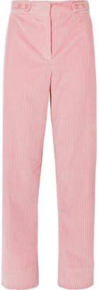 Cédric Charlier Cotton-corduroy Pants - Pink