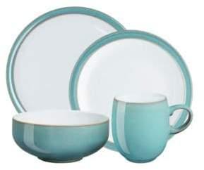 Denby Azure Four-Piece Dinnerware Set