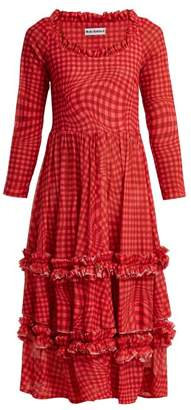 Molly Goddard - Kelly Gingham Mesh Dress - Womens - Red Multi