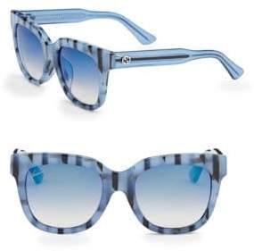 Gucci Striped 53MM Square Sunglasses