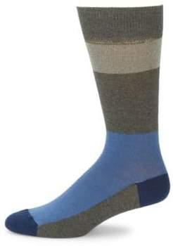 Saks Fifth Avenue Large Block Stripe Socks