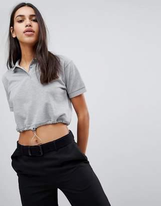 Asos DESIGN Polo T-Shirt With Elasticated Hem