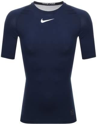 Nike Training Compression Logo T Shirt Navy