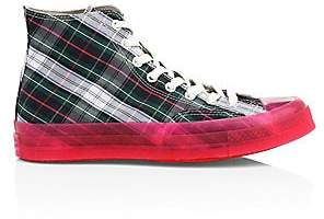 Converse Men's Translucent Midsole Chuck 70 High-Top Plaid Canvas Sneakers