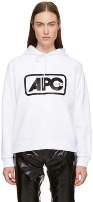 A.P.C. White U.S. Vince Hoodie