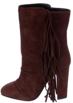 Giuseppe Zanotti Fringe-Trimmed Suede Boots