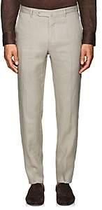 Incotex Men's M-Body Modern-Fit Linen Trousers - Beige, Tan