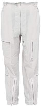 Maison Margiela Grid Print Zip Pocket Cargo Trousers - Mens - White