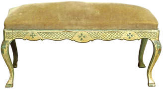 One Kings Lane Vintage 19th-C. Italian Hand-Painted Bench - Vermilion Designs