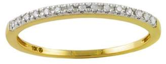 Private Label 10K Yellow Gold & 0.06ctw Diamond Dainty Stackable Ring Size 6.5