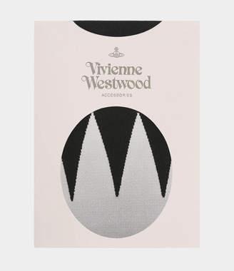 Vivienne Westwood Black Zig Zag Tights