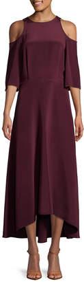 Tibi Silk Cold-Shoulder Dress