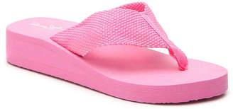 Panama Jack Woven Wedge Flip Flop - Women's