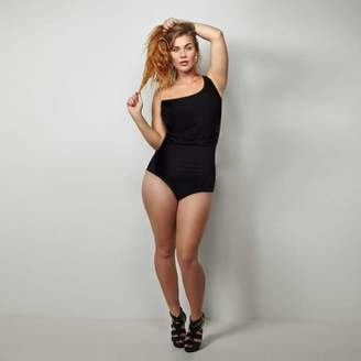 Unbranded Plus Size One Shoulder Mesh Swim Suit(XXLarge)