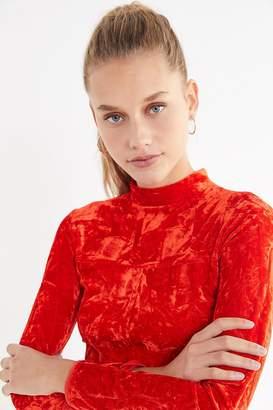 Urban Outfitters Ice Crusher Velvet Mock-Neck Mini Dress